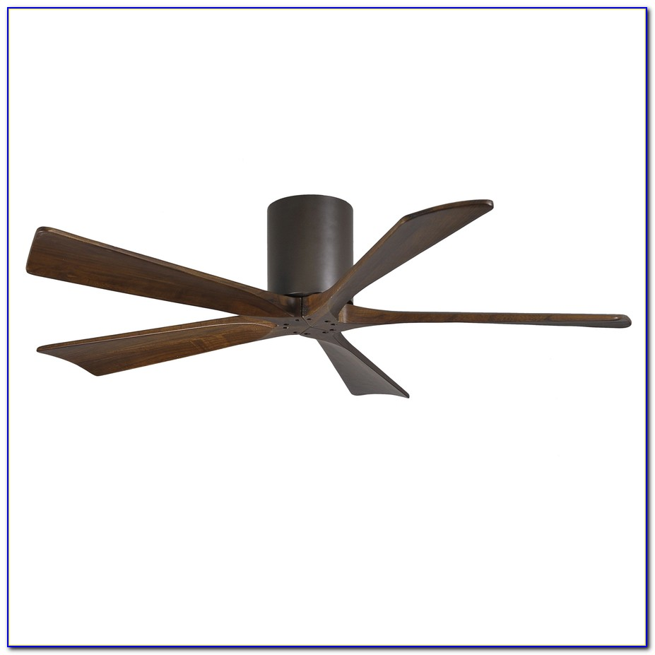 52 Inch Flush Mount Ceiling Fan With Light