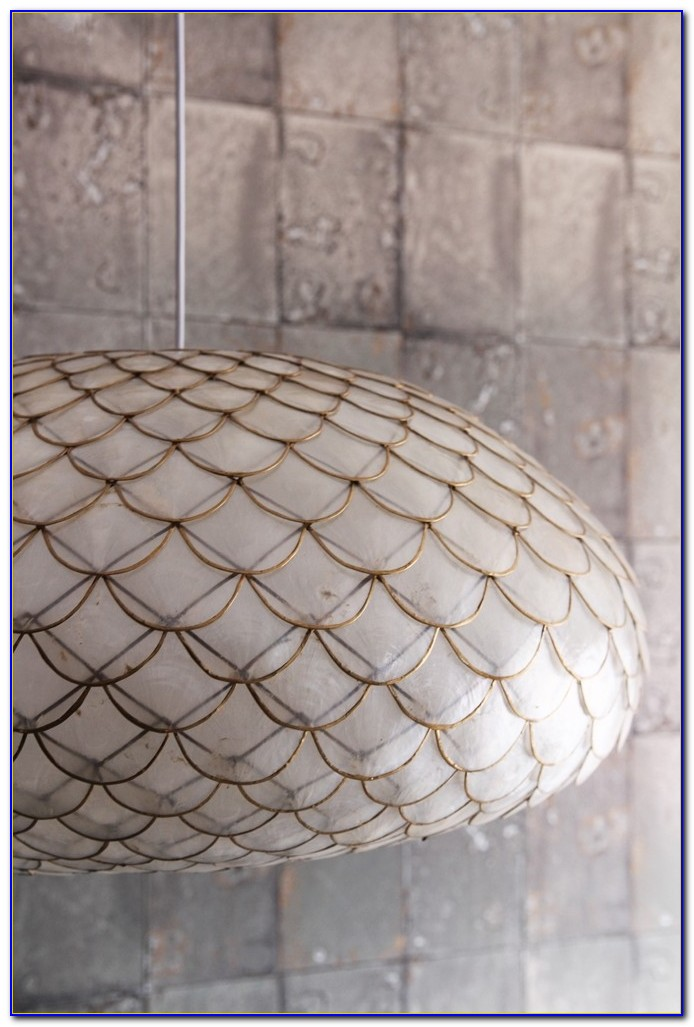 Bayside 13 Wide Silver Pearl Capiz Shell Ceiling Light