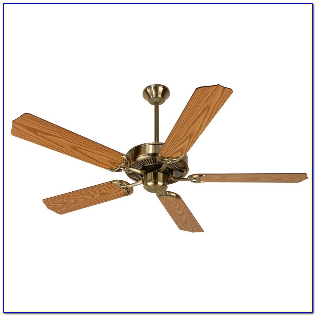 Brushed Brass Ceiling Fan With Light