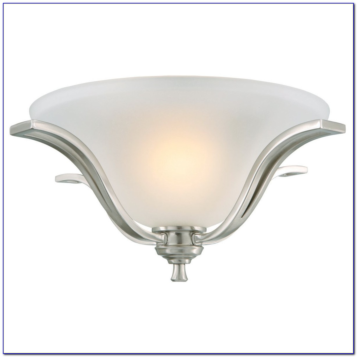 Brushed Nickel Flush Mount Ceiling Light