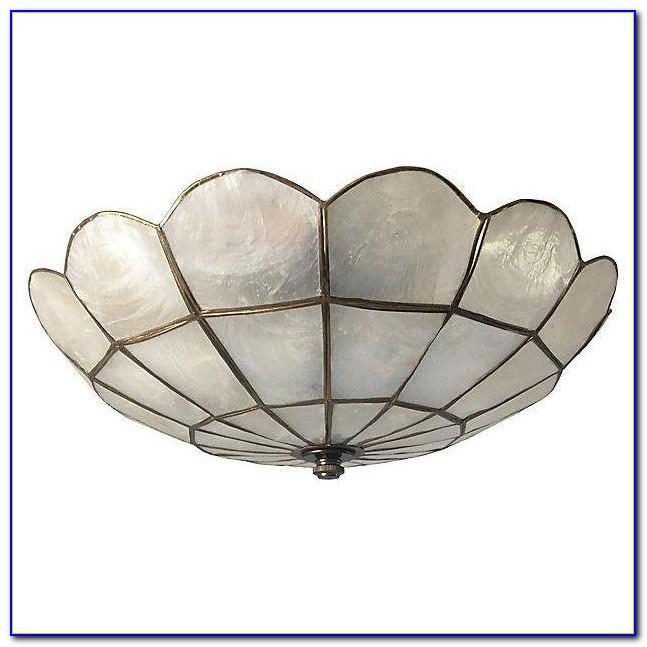 Capiz Shell Flush Mount Ceiling Light