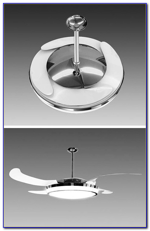 Ceiling Fan Retractable Blades Light