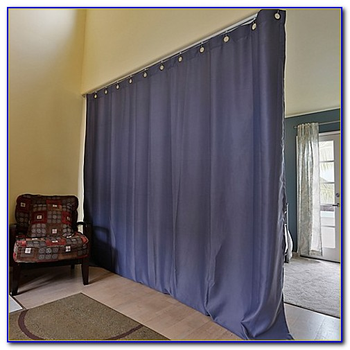 Ceiling Mounted Curtain Room Divider