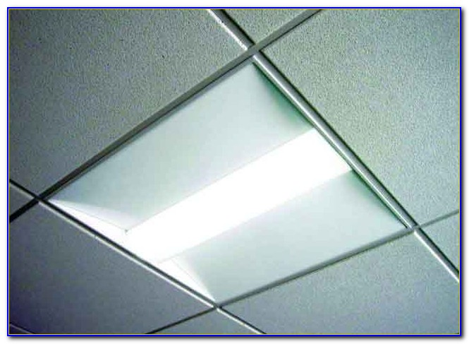 Commercial Drop Ceiling Fluorescent Light Fixtures