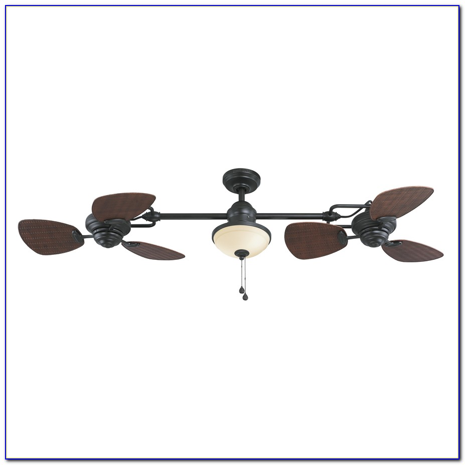 Double Head Ceiling Fan With Light