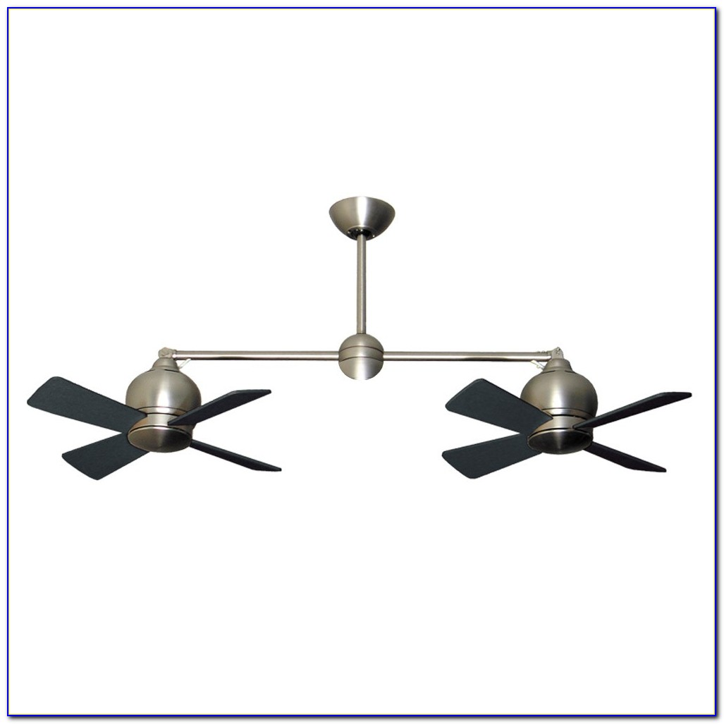 Dual Ceiling Fans With Lights