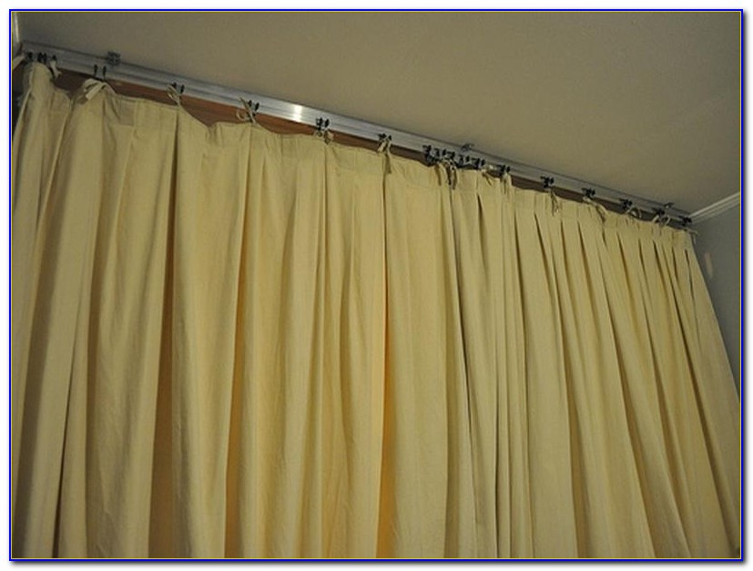Flexible Ceiling Mounted Shower Curtain Track