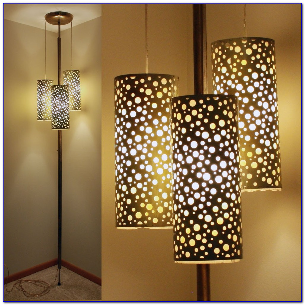 Floor To Ceiling Pole Lamps Vintage