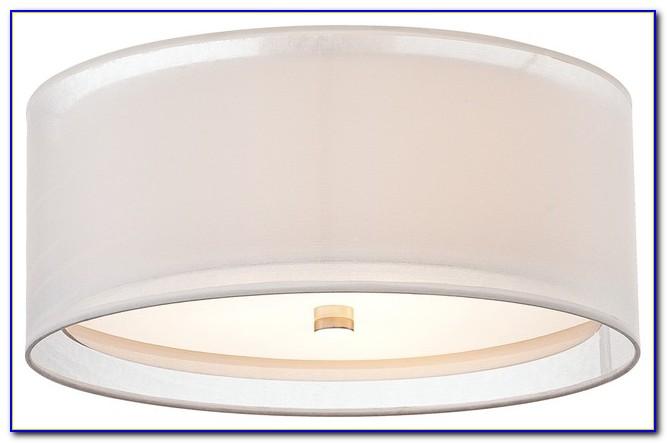 Flush Mount Ceiling Fan With Drum Light