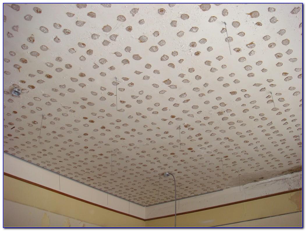 Glue Up Acoustic Ceiling Tiles