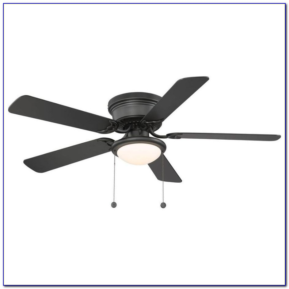 Hampton Bay Flush Mount Ceiling Fan With Light