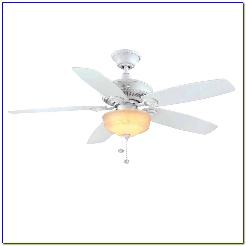 Hampton Bay White Ceiling Fan Blades