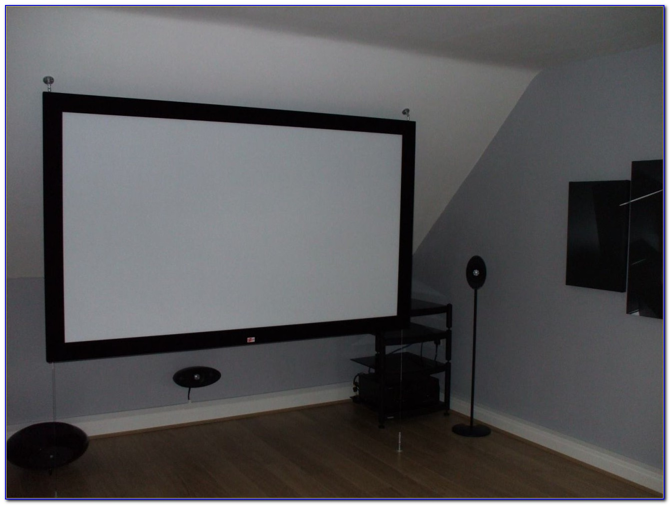 Hang Projector Screen From Ceiling