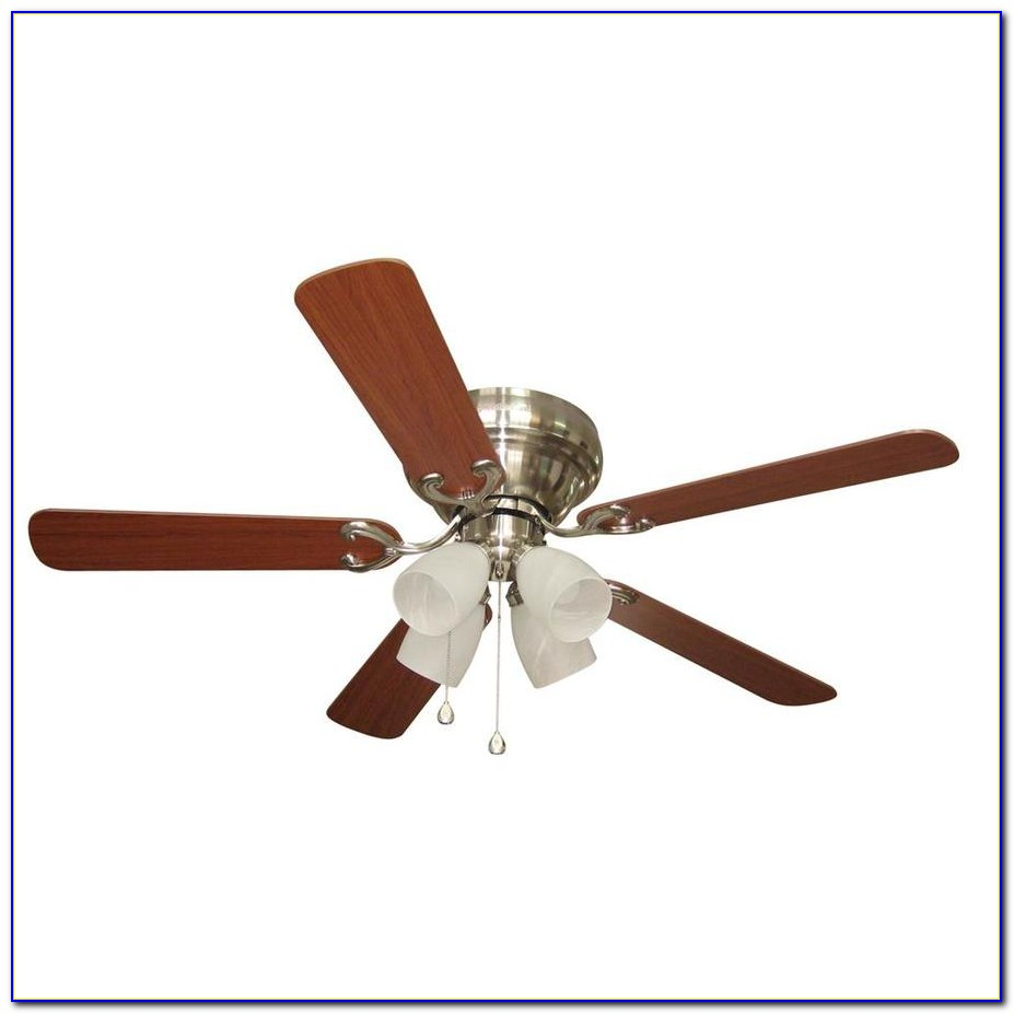 Harbor Breeze 44 In Brushed Nickel Flush Mount Ceiling Fan