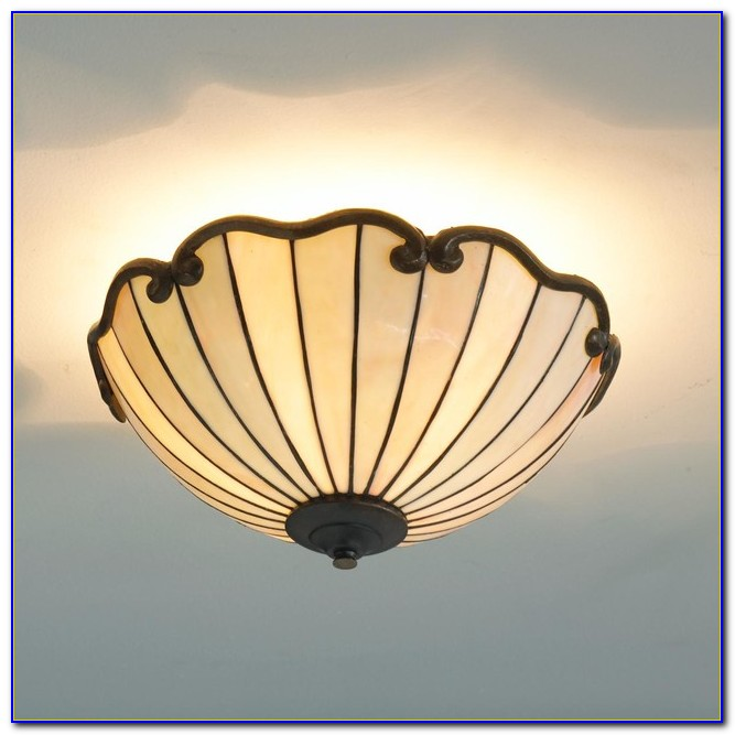 Harvest Tiffany Semi Flush Ceiling Light