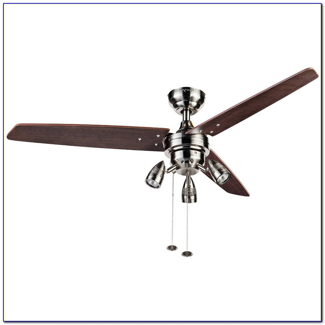 Hunter Flush Mount Ceiling Fan With Light Kit
