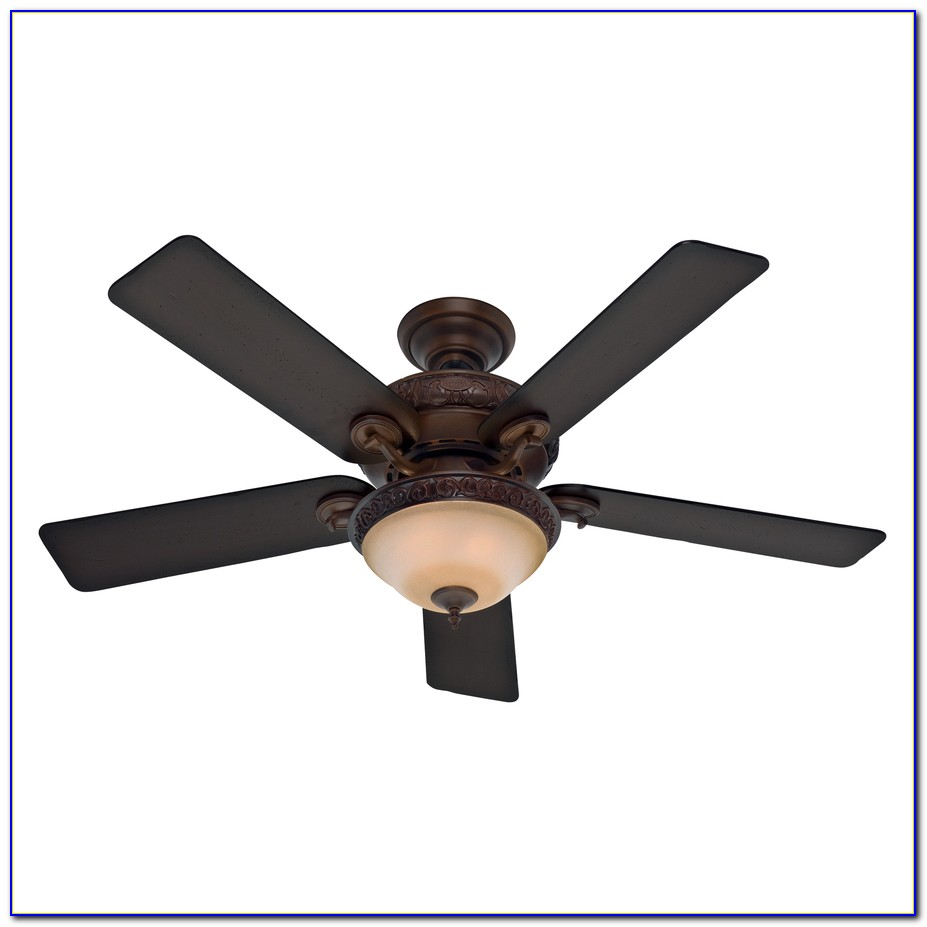 Hunter Flush Mount Ceiling Fan With Light