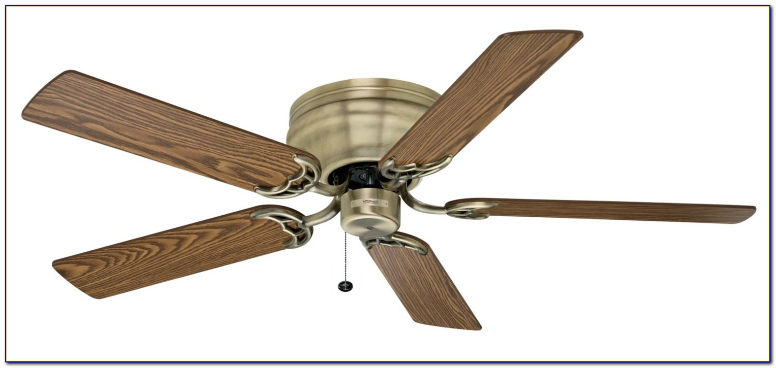Hunter Flush Mount Ceiling Fan With Remote Control