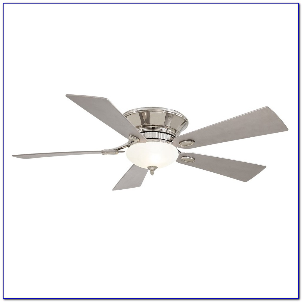 Hunter Louden 46 In White Flush Mount Ceiling Fan With Light Kit