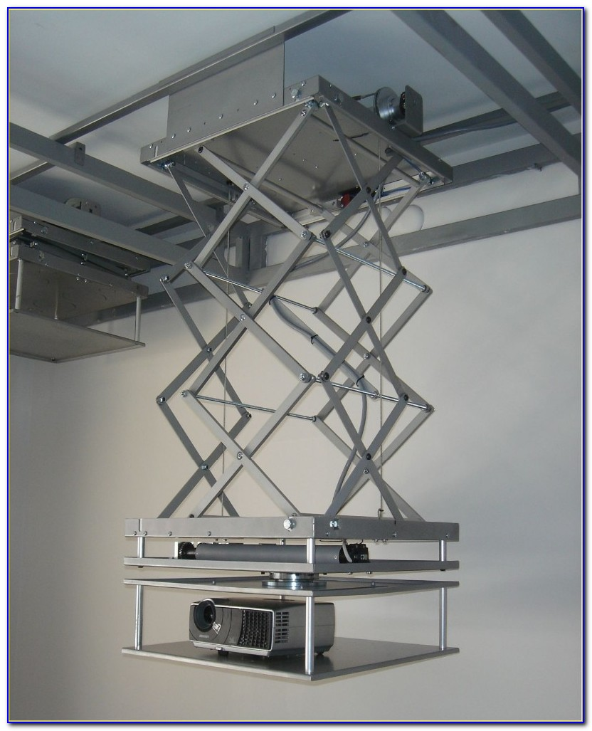 Motorised Ceiling Projector Mount