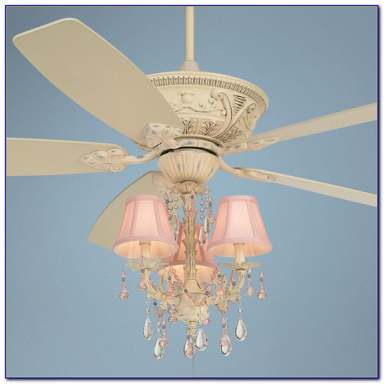 Pink Chandelier Ceiling Fan Light Kit