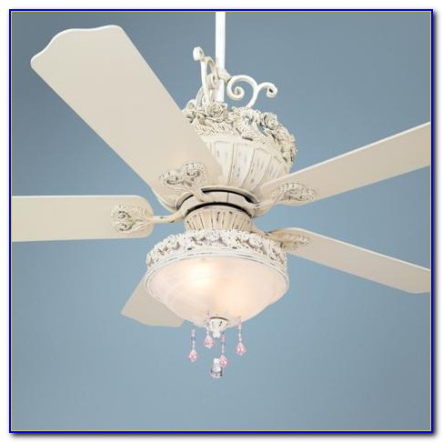 Pink Crystal Chandelier Ceiling Fan