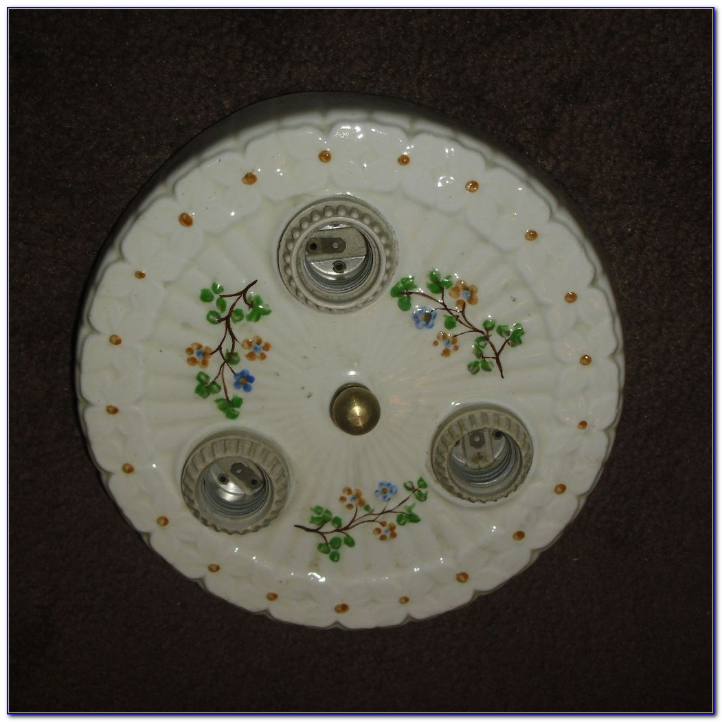 Porcelain Ceiling Light Fixture
