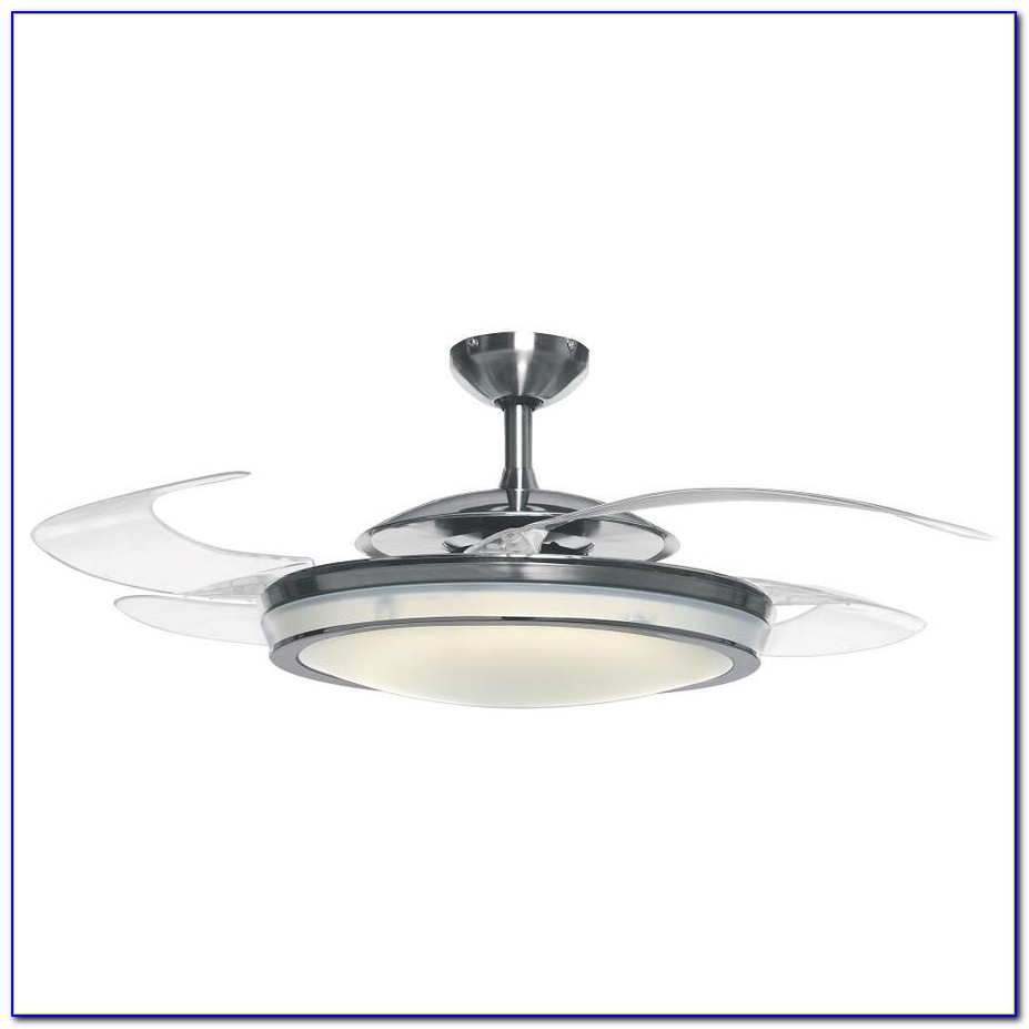 Retractable Blade Ceiling Fans With Light