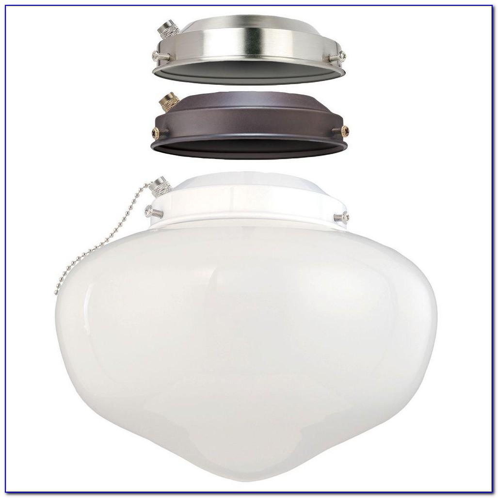 Schoolhouse Ceiling Fan Light Kit