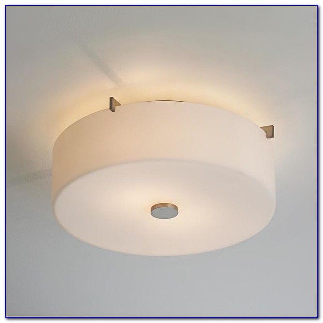 Semi Flush Mount Ceiling Light With Drum Shade