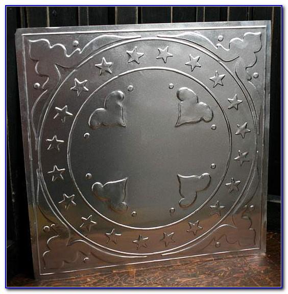 Stamped Metal Ceiling Tiles