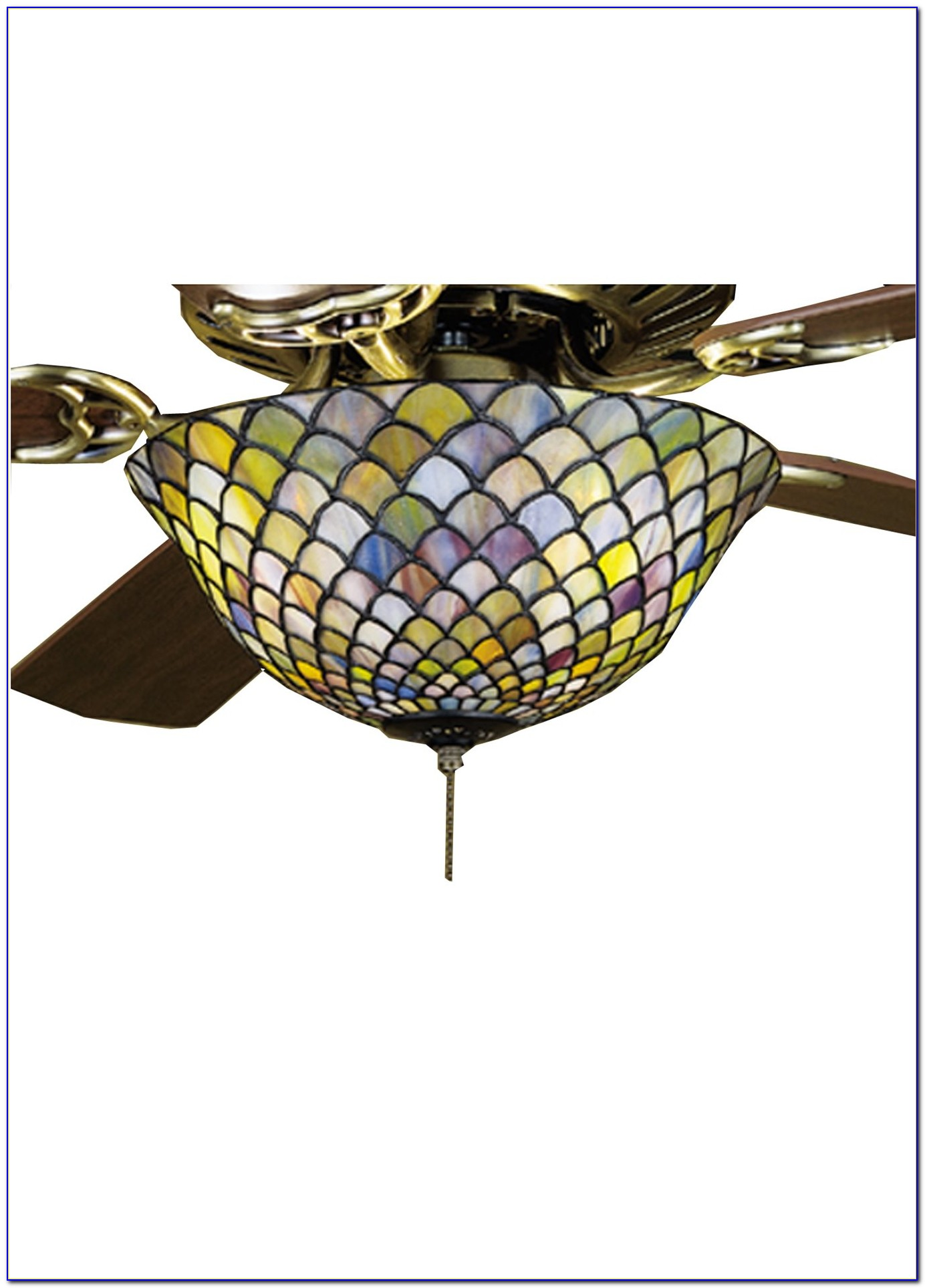 Tiffany Glass Ceiling Fan Light Kit