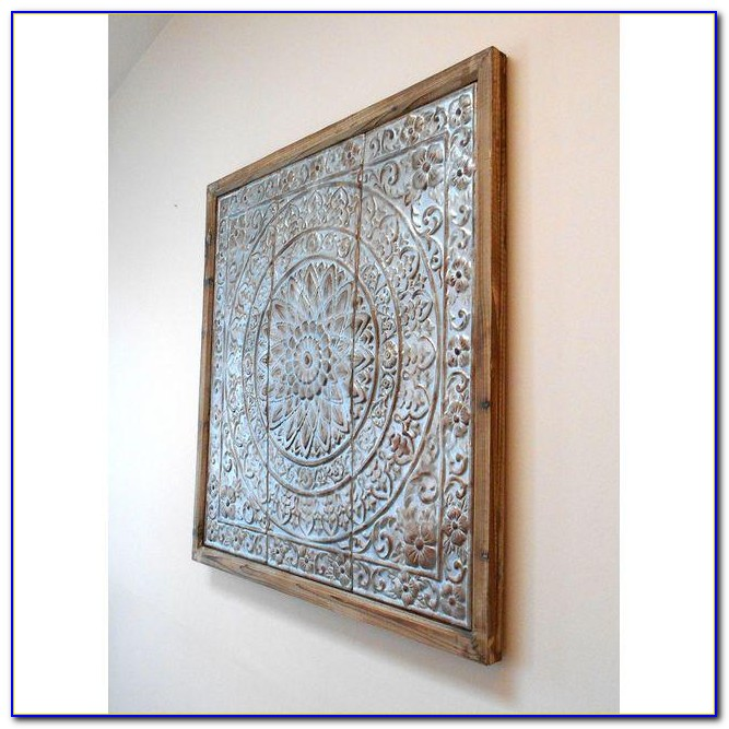 Tin Ceiling Tile Wall Art