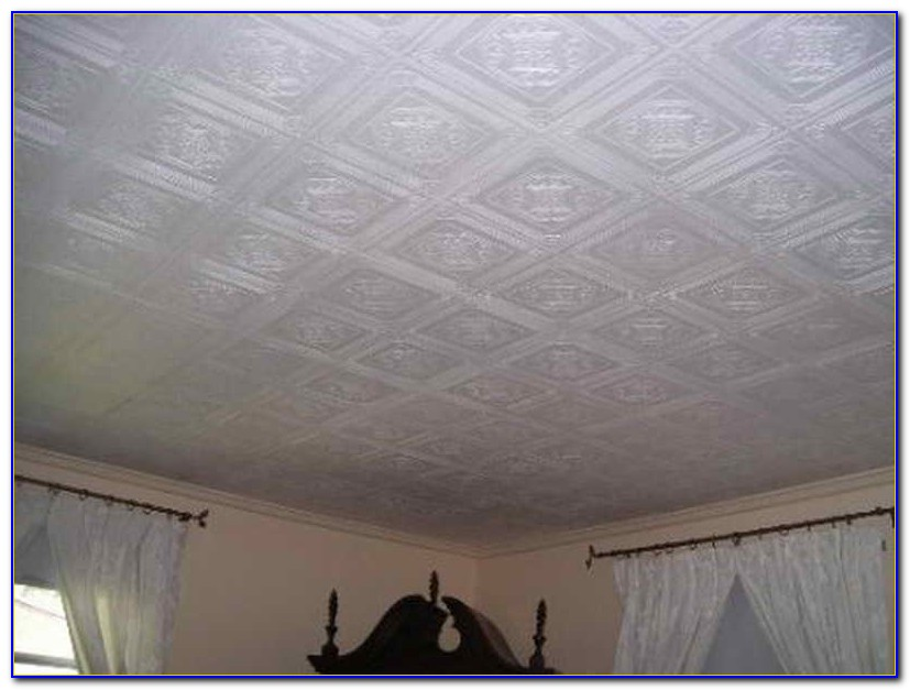 Using Ceiling Tiles To Cover Popcorn Ceiling