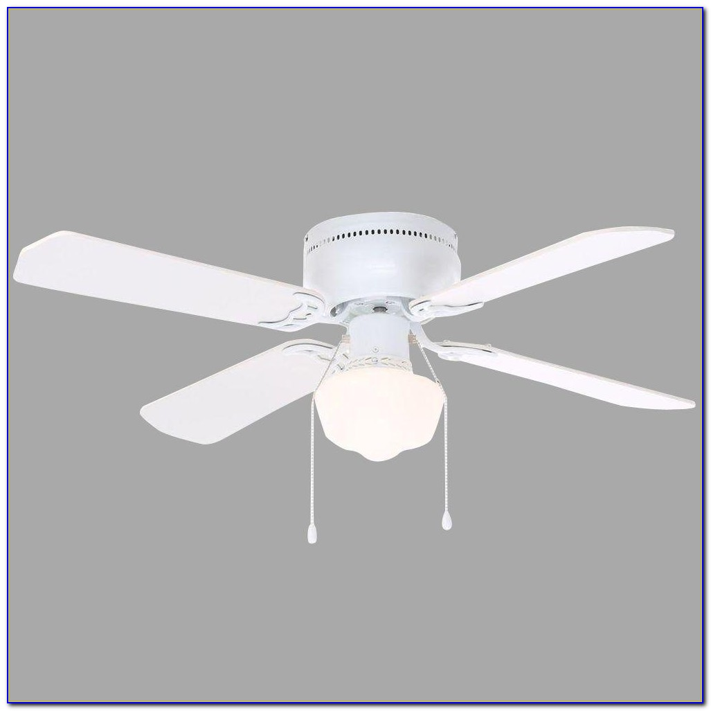White Hampton Bay Ceiling Fan With Lights