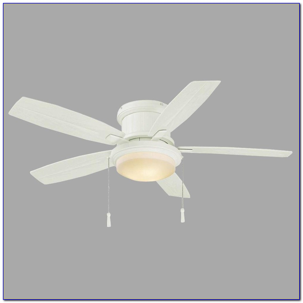 White Hampton Bay Ceiling Fan With Remote