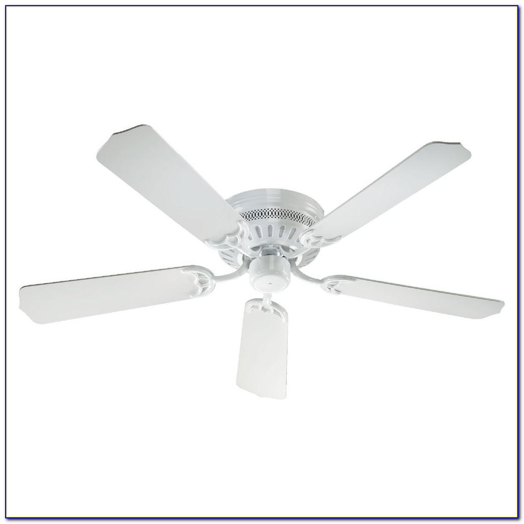 White Hugger Ceiling Fan No Light