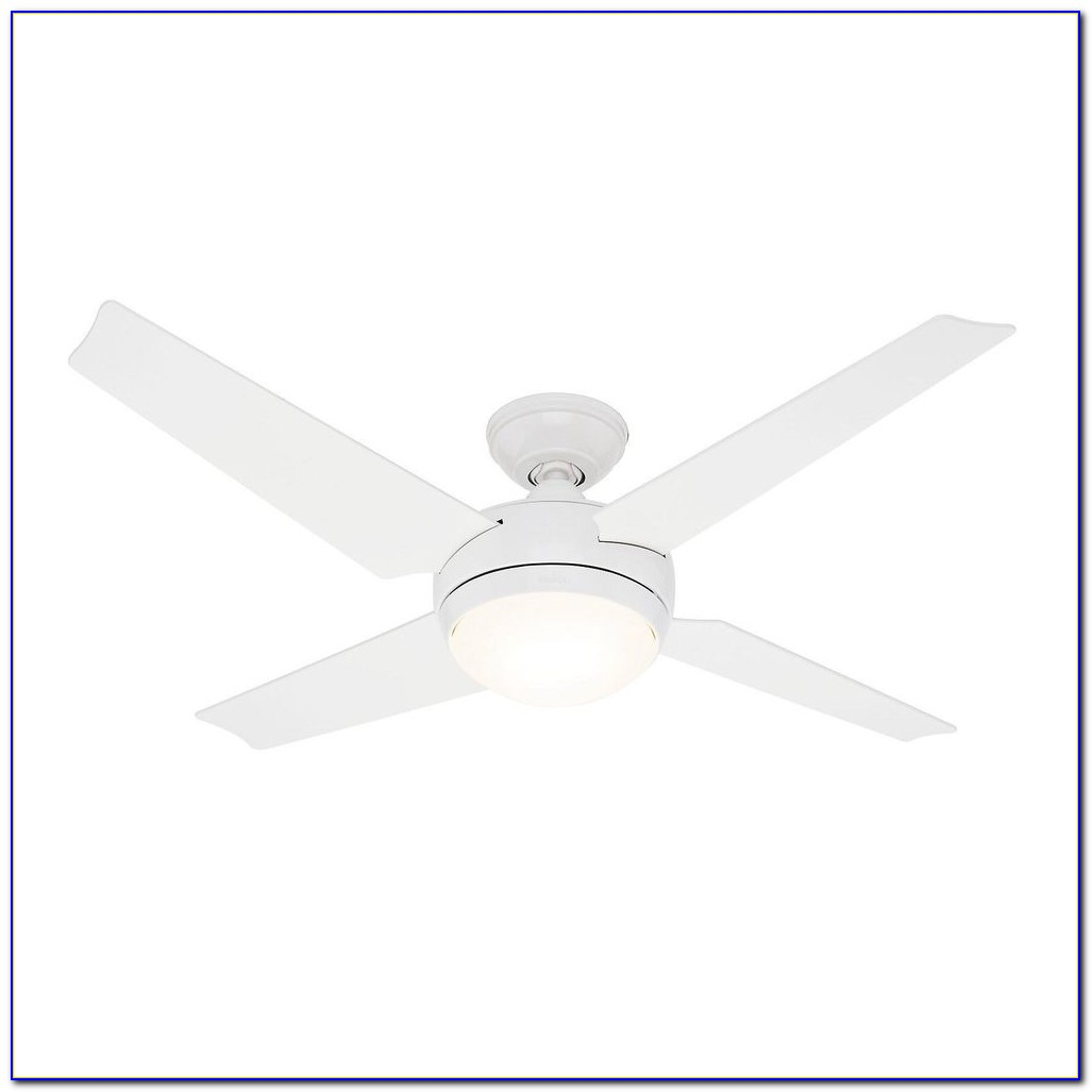 White Hunter Ceiling Fan With Remote