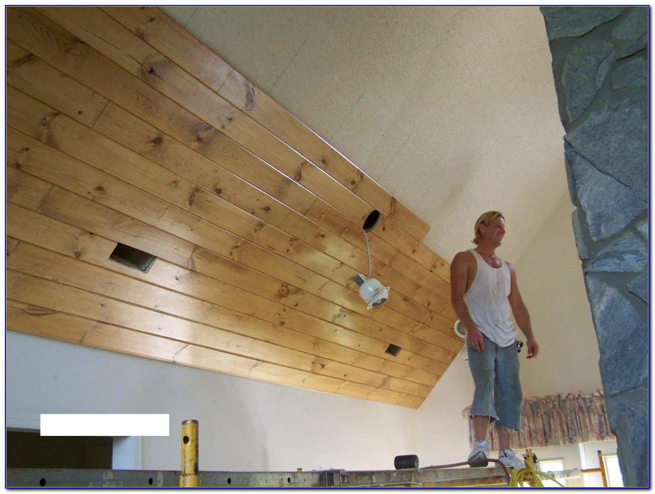 Wooden Tongue And Groove Ceiling