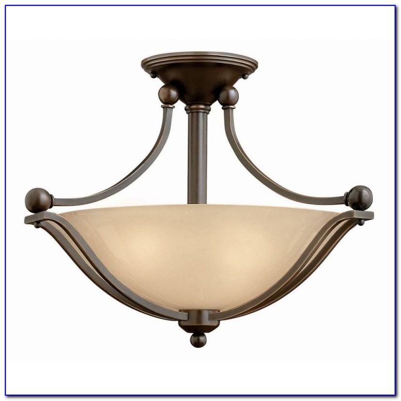 6 Light Glass Ball Semi Flush Ceiling Light By Naeve Leuchten