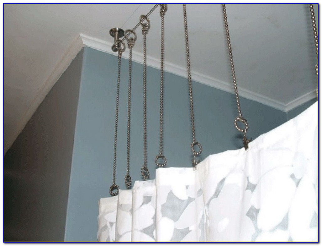 Bay Window Curtain Track Ceiling Mounted