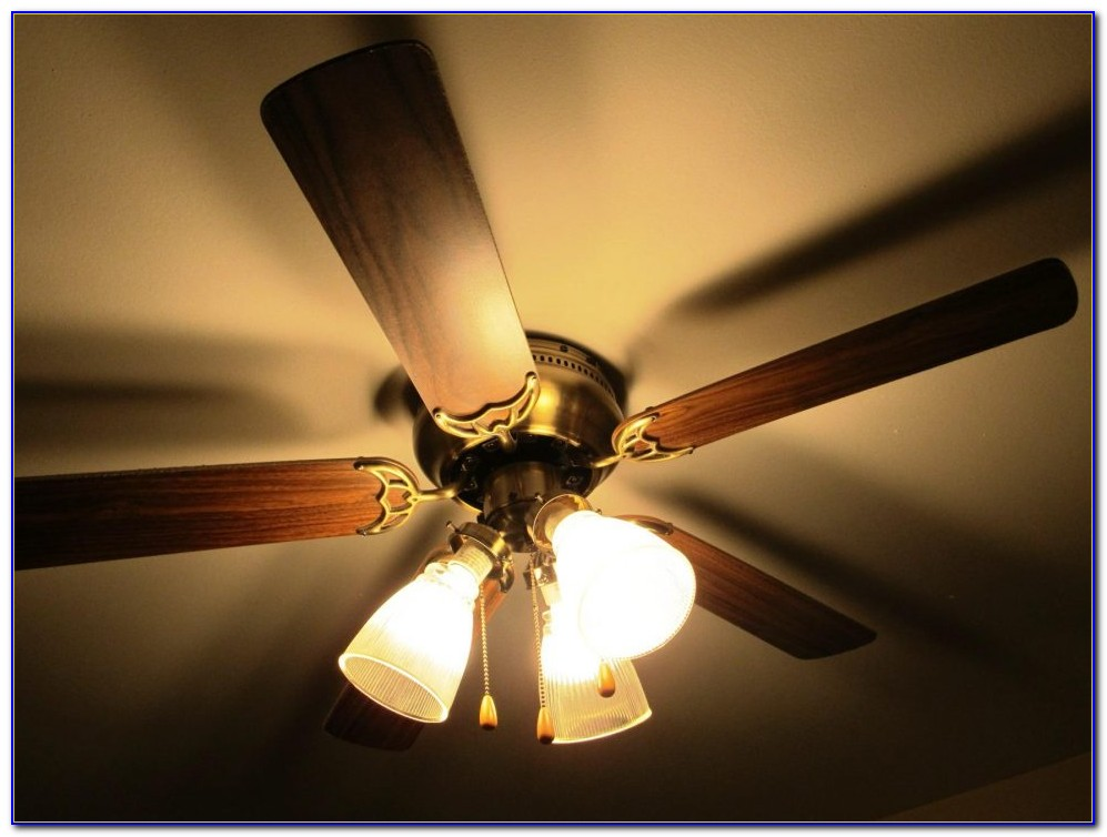 Belt Driven Ceiling Fan With Light