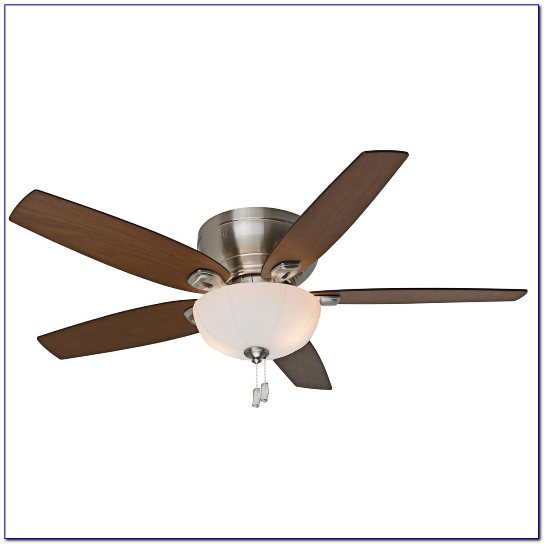 Brushed Nickel Hugger Ceiling Fan