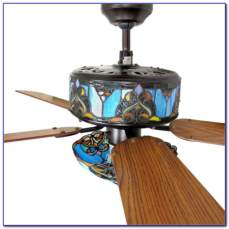 Ceiling Fans With Stained Glass Light Kits