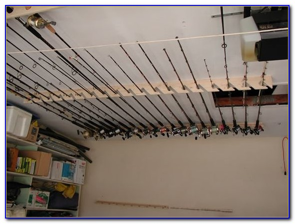 Ceiling Fishing Rod Holder Diy