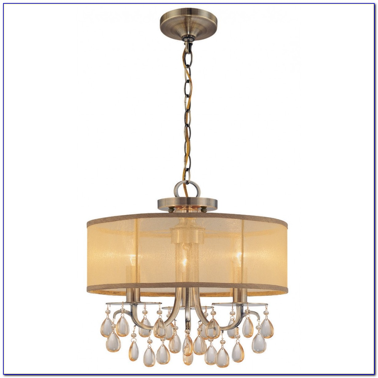 Ceiling Flush Mount Crystal Chandelier