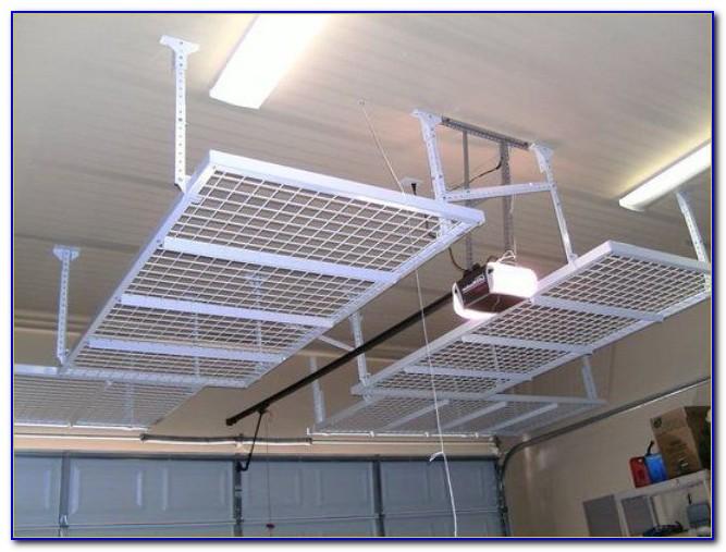 Ceiling Mounted Garage Shelves Diy