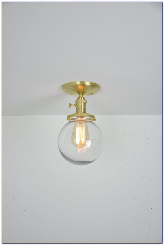 Clear Glass Globe Pendant Light Fixtures