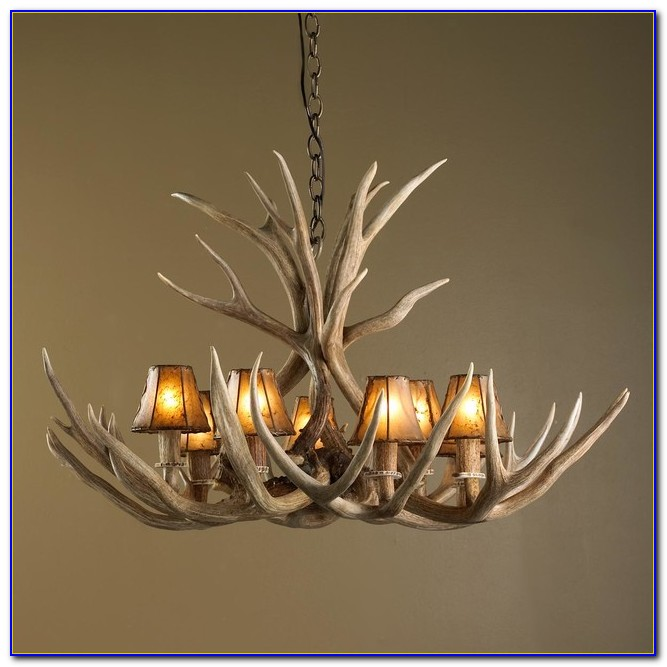 Deer Antler Ceiling Light
