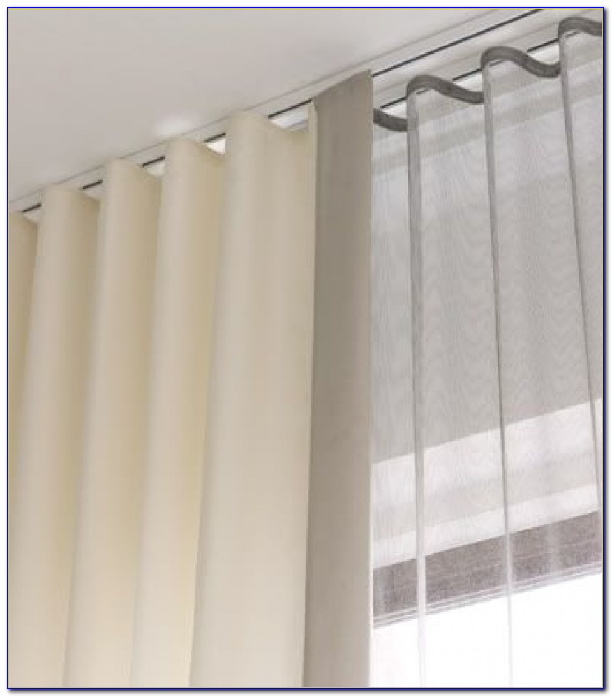 Flexible Curtain Track Ceiling Mount